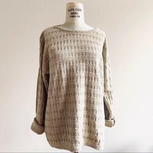 Vintage 90s Silk Blend Textured Oversized Sweater